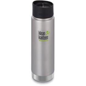 Klean Kanteen Wide Vacuum Insulated Borraccia con tappo per caffè 2.0 592ml, brushed stainless